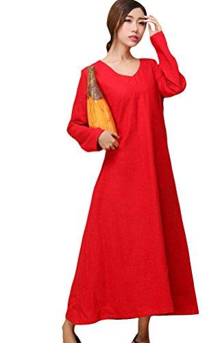 Voguees - Vestido - suéter - para mujer Rojo