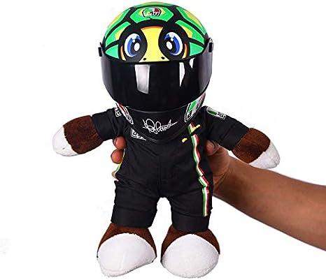 Juguete de Peluche Casco de Motocicleta Racing Bear Doll Toys Use un pequeño Casco Doll Motorcycle Doll Motocicleta Decoración Regalo para Amante de la Motocicleta