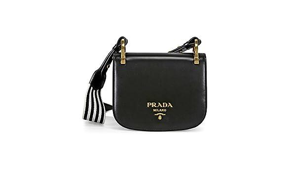 Prada Pionniere Leather Shoulder Bag - Black  Handbags  Amazon.com 5088abf8f16d2