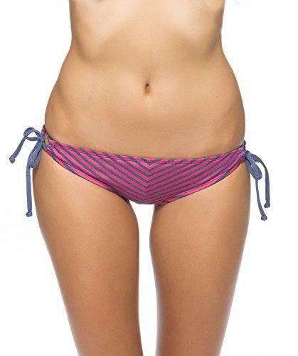 Splendid Women's Malibu Stripe Tunnel Bikini Bottom, Navy, Small
