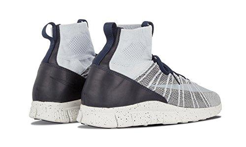 Nike Free Flyknit Kviksølvholdige Herre-running Sneakers Plateado / Blanco Pr Pltnm / Smmt Wht-drk Gry-observeret UJdo8