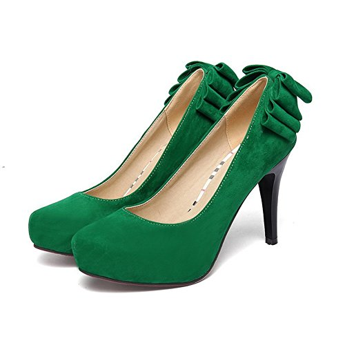 Balamasa Dames Solide Pull-on Frosted Pumps-schoenen Groen