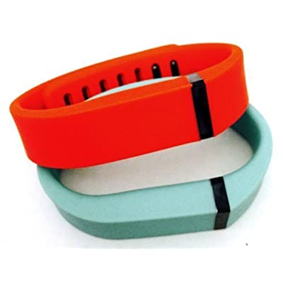 ! Small S 1pc Teal (Blue/Green) 1pc Red (Tangerine) Replacement Bands + 1pc Free Small Grey Band With Clasp for Fitbit FLEX Only /No tracker/ Wireless Activity Bracelet Sport Wristband Fit Bit Flex Bracelet Sport Arm Band Arm