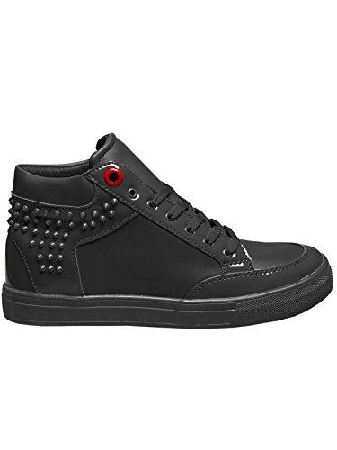 OZONEE Herren Sneakers Sportschuhe Laufschuhe Turnschuhe AOD B1 Schwarz_CONER-B1021