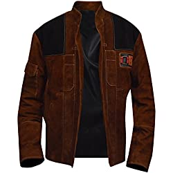 Han Solo A Star Wars Story Suede Leather Brown Jacket, XXS - 3XL