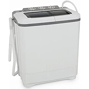 GHP Home Improvement Portable Compact 14.5''Lx24''Wx28-14/4''H Washing Machine