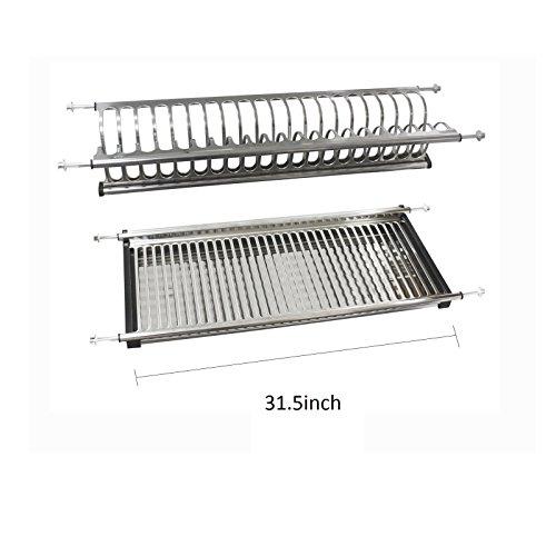 "31.5"" Modern 2-Tier Kitchen Folding Dish Drying Dryer Rack F"
