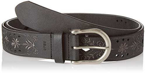 (Relic by Fossil Women's Relic Jean Embroidered Belt, Black, L)