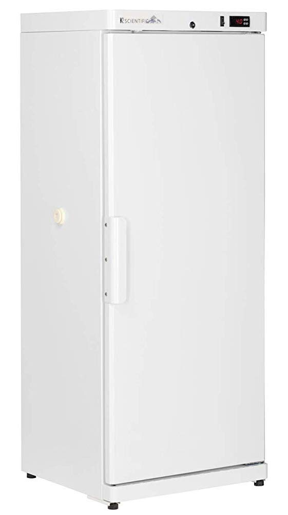K2 Scientific - Upright Solid Door Refrigerator with Solid Door for Vaccines & Pharmaceuticals - Medical-Grade Storage - 6 Shelves - 10 Cu. Ft. by K2 Scientific
