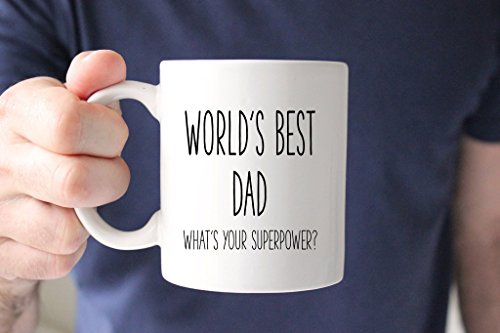 World's Best Dad, What Your Superpower? Coffee Mug, Ceramic Mug, Men Gift, Gift For Dad, Dad Gift, Mens Gift, 11oz - Are Best The In What World The Sunglasses