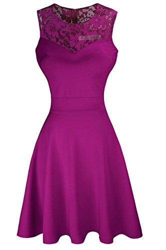 Цвет: пурпурный с цветочным кружевом