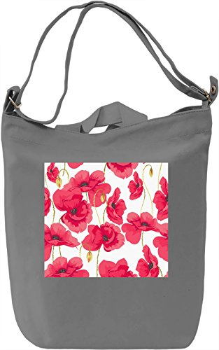 Colorful Flowers Pattern Borsa Giornaliera Canvas Canvas Day Bag| 100% Premium Cotton Canvas| DTG Printing|