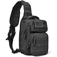 Tactical Sling Bag Pack Military Shoulder Sling Backpack Small Range Bag Pack Black
