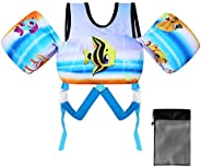 Viewfun Toddler Swim Vest with Arm Wings,Upgraded Safety Children Pool Jacket Baby Swim Aid for Training Boy&a