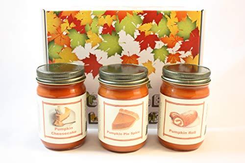 (Country Rich Creations Pumpkin Fest Fall Candle Collection, Pumpkin Pie Spice, Pumpkin Roll, Pumpkin Cheesecake, Three 12 Ounce Jar Candles ...)