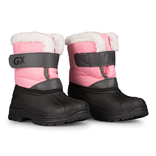 Girls amp; Easy Boots Kids Dry Insulated Snow amp; Warm Close Boys Toddlers Pink Little FnFIYp7q