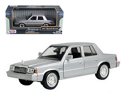 1983 Plymouth Reliant Silver 1/24 by Motormax 73336