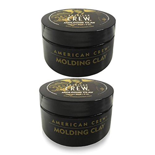 American Crew Molding Clay (3 oz) - 2 Pack - High Hold - Medium Shine