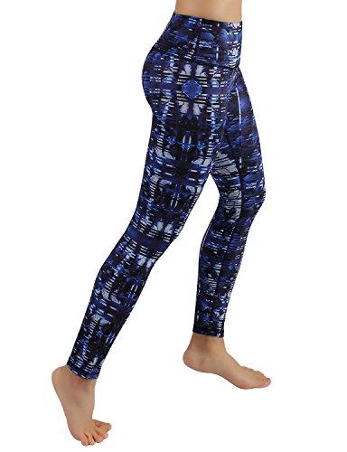 Large Product Image of ODODOS Power Flex Printed Yoga Pants Tummy Control Workout Non See-Through Leggings with Pocket,Indigo,Medium