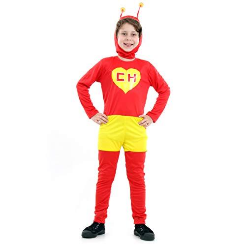 Fantasia Chapolin Colorado Infantil 922113-P, Vermelho/Amarelo, Sulamericana Fantasias