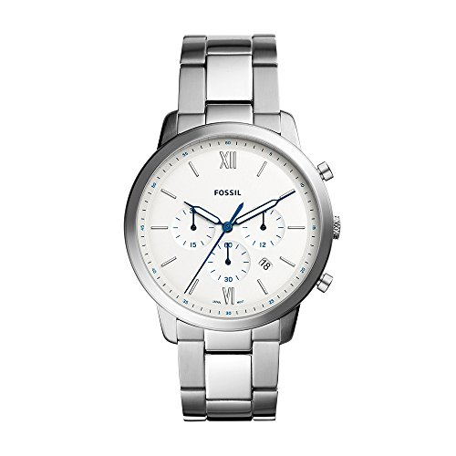 - Fossil Men's 'Neutra Chrono' Quartz Stainless Steel Casual Watch, Color:Silver-Toned (Model: FS5433)