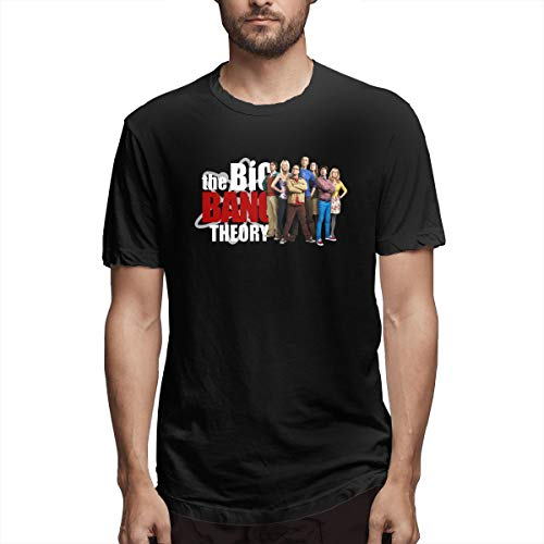 Thno Sheldon Cooper Leonard Hofstadter Rostenkowski Television Show Men's T-Shirts 4XL Black -