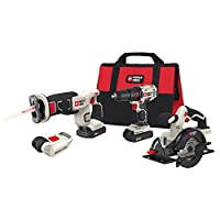 Deals on PORTER-CABLE 4-Tool 20-Volt Max Lithium Ion Cordless Kit PCCK616L4