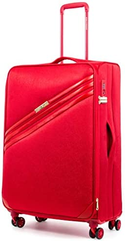 DKNY Valencia Expandable Softside Spinner Luggage with TSA Lock, Red, 29 Inch