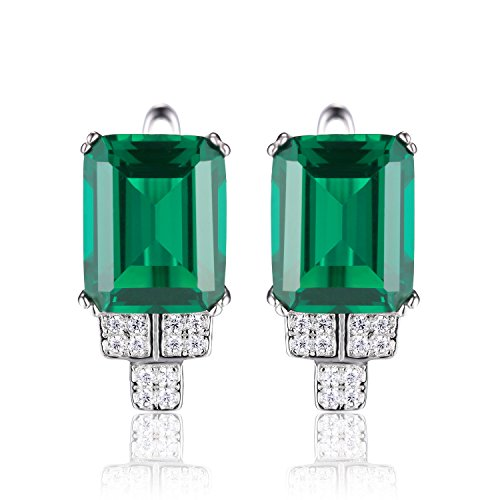 JewelryPalace-Womens-6ct-Created-Nano-Russian-Emerald-Clip-On-Earrings-925-Sterling-Silver