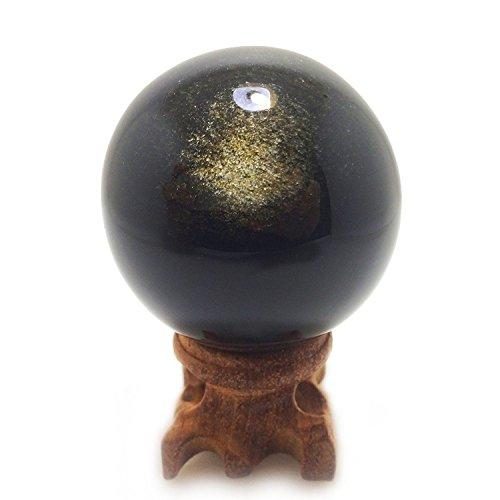 Mina Heal Natural Golden Sheen Obsidian Sphere 45mm/1.8