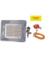 Rothenberger värme – strålkastare inklusive slang och regulator gasvärmestrålare, övre värmestrålare, drivs med propan – gas för 5 kg eller 11 kg flaskor, 35984