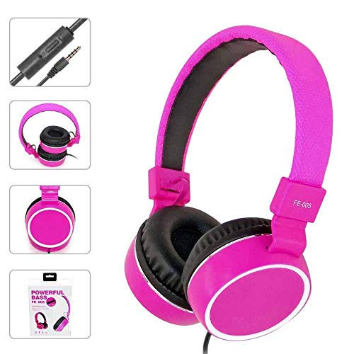 (Hot Sale!UMFun Headphones Earphone Headset Stereo Wired with Mic for Smartphone MP3/4 PC)