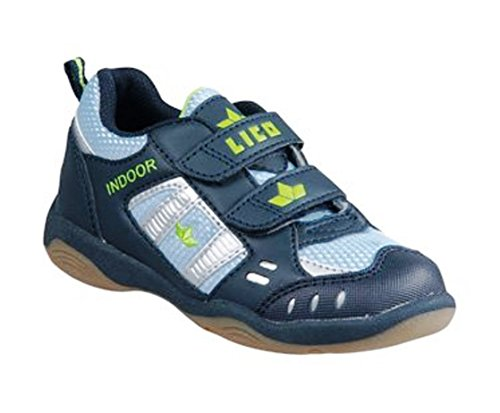 lico Indoor V 360299, – Zapatillas deportivas para interior, color azul (Marine/azul claro/Lemon), UE 25