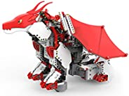 UBTECH JIMU Robot Mythical Series: Firebot Kit/ App-Enabled Building & Coding STEM Robot Kit (606 Pcs), Re