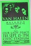 #3: Van Halen Sammy Hagar 1995 Portland Concert Poster