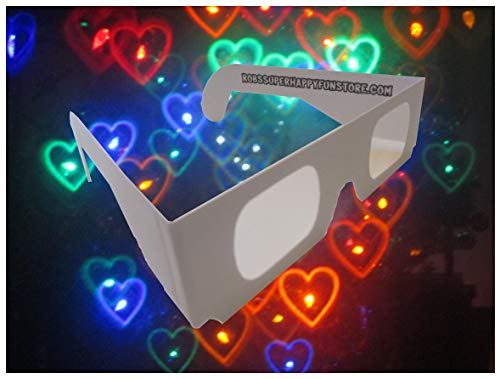 Rob's Super Happy Fun Store Rainbow Hearts Fireworks Diffraction Glasses - 50 Pair - Paper ()
