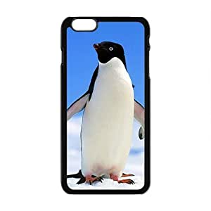 Cute Penguins Hand In Hand Black Phone Case for Iphone6 plus