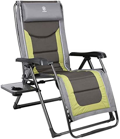 EVER ADVANCED Oversize XL Zero Gravity Recliner Padded Patio Lounger Chair