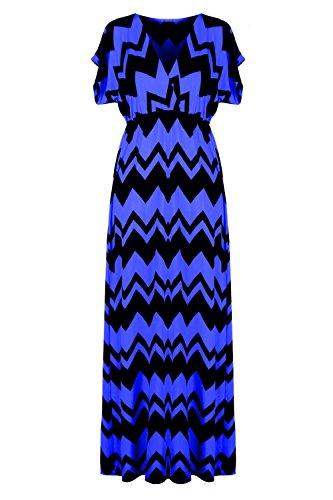 G2 Chic Women's Printed Spring-Summer Maxi Dresss(DRS-MAX,RYB-S)