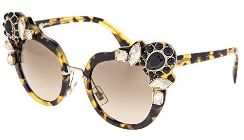 - MIU MIU RUNWAY JEWEL 04S Shiny Black Mirrored Butterfly Sunglasses MU04SS