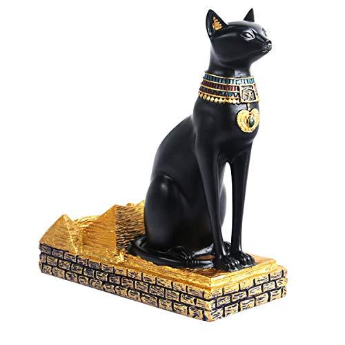 BESTonZON Single Wine Bottle Holder Egyptian Cat Wine Rack Tabletop Wine Shelf Decorations