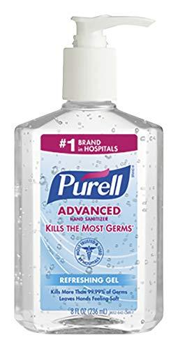 操縦するかすれた追い出すPURELL Instant Hand Sanitizer, 8-oz. Pump Bottle by Purell