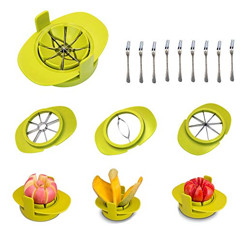 Stainle Kitchen - M-Aimee Apple Corer Slicer Cutter/Tomato Mango Slicer/4 In 1 Stainles Steel Multifunction Kitchen Gadget Fruit Cutter,With Free 10 Fruit Forks