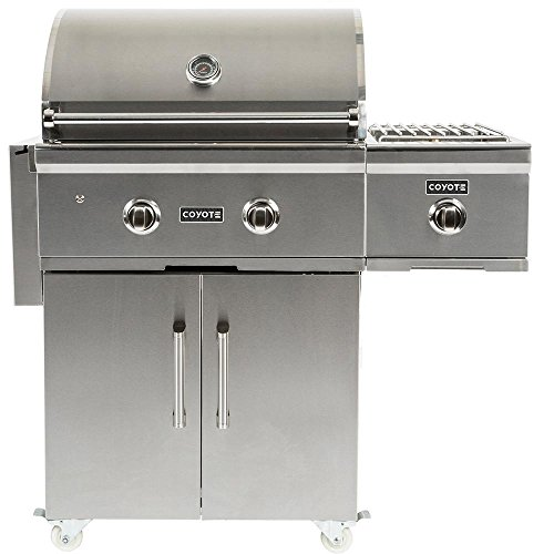 Coyote C-Series Single Side Burner for Grill Cart, Liquid Propane- (Liquid Propane Single Grill)