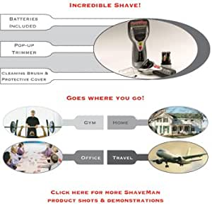 Shaveman - Electronic Razor with Trimmer