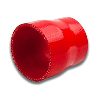 3.25 inches To 3.5 inches Straight Turbo/Intercooler/Intake Piping Coupler Reducer Silicone Hose (Red): Automotive