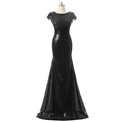 long black mermaid bridesmaid dresses - 9