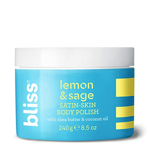 Bliss - Lemon & Sage Satin Skin Body Polish With Shea Butter & Coconut Oil | Smoothing & Balancing Skincare | All Skin Types | Cruelty Free | Paraben Free | 8.5 fl. oz.