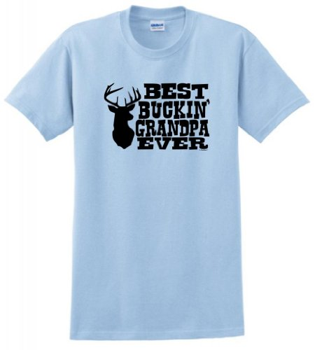 (for Dad and Grandpa Best Buckin' Grandpa Ever T-Shirt 3XL Light Blue )