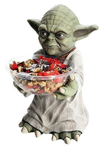 Japan Import Cosplay Halloween Party Goods decorative Yoda Star Wars candy bowl holder]()